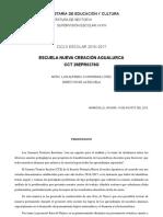 Ruta de Mejora Escolar 2016-2017