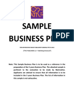 Business Plan Format - The Publishers 2.0