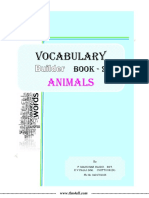 Vocabulary Builder Book-2 (Animals)