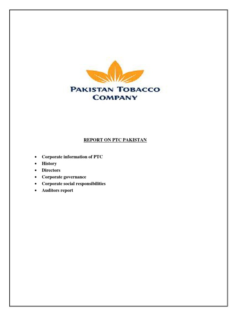 pakistan tobacco company annual report 2011