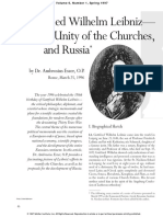 Fidelio - Gottfried Wilhelm Leibniz—the Unity of the Churches, And Russia