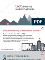 Study Abroad at University of Southern California, Admission Requirements, Courses, Fees