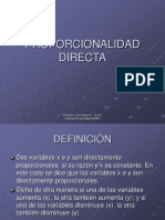 Proporcionalidad Directa