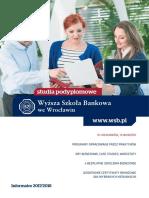 Informator 2017 - Studia Podyplomowe - Wyższa Szkoła Bankowa We Wrocławiu