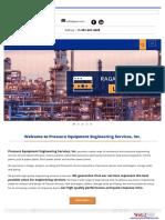 Pressure Equipment Engineering Services, Inc.