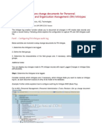 Procedure to Configure Change Documents for Personnel Administration