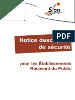 Notice Descriptive de Securite Pour Les ERP - 2014