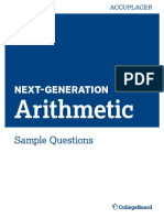 Next Generation Sample Questions Arithmetic