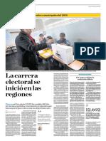 La Carrera Electoral Se Inició en Las Regiones
