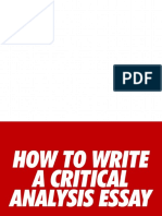 How Do You Write a Critical Analysis Essay (Pic)