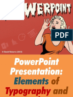 PPT Presentation-Elements of Typography and Design (Picture Presentation)