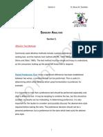 Sensory Analysis - Section 5