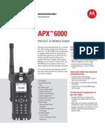 APX 6000 Spec Sheet