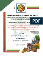 Agroindustrialización de La Caña de Azúcar en La Parroquia Malacatos, Cantón y Provincia de Loja