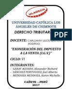 EXONERACIÓN AL IMPUESTO A LA VENTA.docx