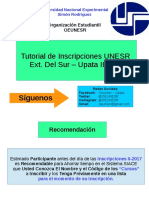 Tutorial de Inscripción UNESR II-2017 SIACE
