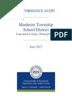 Manheim Township School District Performance Audit