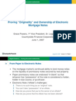 """Proving """"Originality""""and Ownership of Electronic Mortgage Notes"""