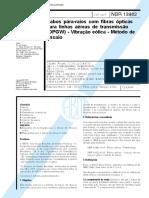 NBR 13982 - 1997 - Cabos Para-Raios Com Fibras Ópticas Para Linhas Aéreas de Transmissão (OPGW)