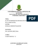 El Uso de Sistemas de Información Geográfica en La Agricultura.