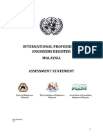 IPEA Assessment Statement Malaysia Update for 2015