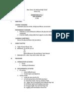 Lesson Plan in P.E. 7