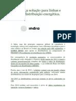 Indra Lança Solução Para Linhas e Redes de Distribuição Energética. Confira