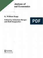 Kapp Content of Institutional Economics