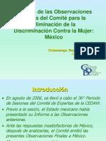 Análisis Observaciones Finales CEDAW. CDD AIDE