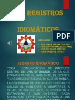 REGISTROS IDIOMATICOS