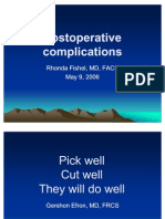 PostoperativeComplicationsFishel051506