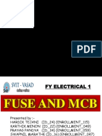 Fuse and Mcb