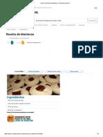 Receita de Mantecau - Internet