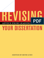 Revising Your Dissertation Advice From Leading
