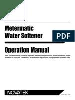 Novatek Metermatic Water Softener 51877 English