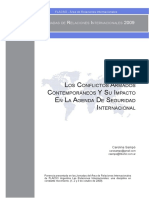 SAMPO, Carolina (2009) - Los Conflictos Armados Contemporáneos y su Impacto en la Agenda de Seguridad Internacional