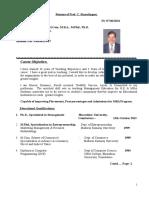 Prof.Dr.C.R    Resume