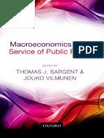 Thomas J. Sargent, Jouko Vilmunen Macroeconomics at the Service of Public Policy