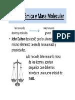 Masas Atomica y Molecular