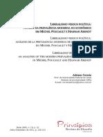 ANÁLISE DA PREVALÊNCIA MODERNA DO ECONÔMICO EM ARENDT E FOUCAULT.pdf