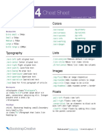 Bootstrap Cheat Sheet Pdf