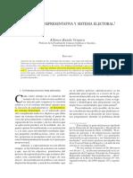 Democracia Representativa y Sistema Electoral (Banda)