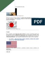 Cambios de La Tecnología en Los Países Del Mundo