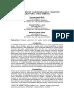 Análisis Estadístico de La Movilidad en El Transporte Público de La Ciudad de México