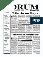 The Forum Gazette Vol. 4 No. 16 September 1-15, 1989