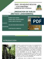 Biorremediacion de Suelos ( Metodo Landfarming)