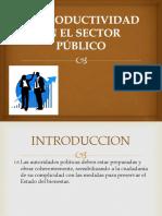 Productividad en El Sector Publico