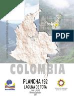 Memoria Plancha 192 Laguna de Tota 2001