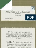 20170521 Leccion6 Accion de Gracias