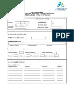 Formulario N° 2A Tipo Atención - Prestaciones - Lugares Atención - Nivel